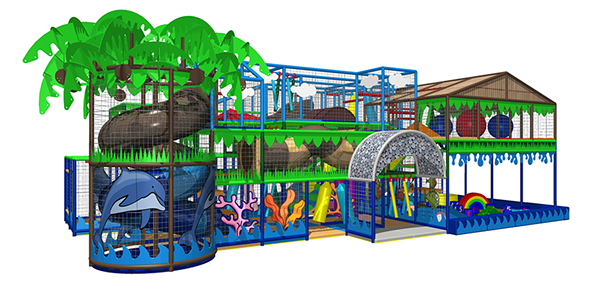 King of the Castles combine themes and levels to design fantastic Soft-Play with a WOW factor