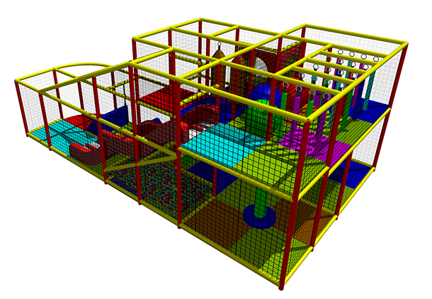 King of the Castles maximise play value by utilising all available space with quality soft-play equipment